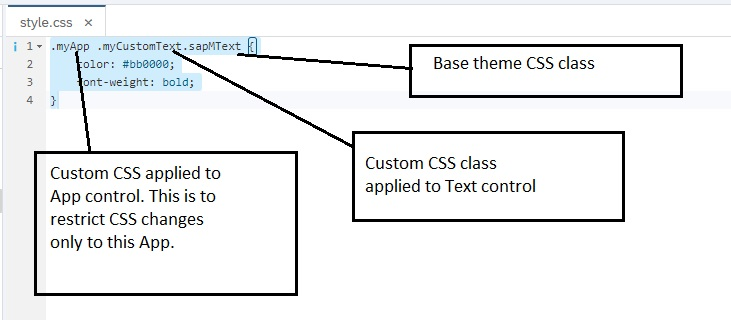 Embedding custom CSS style class to SAPUI5 control
