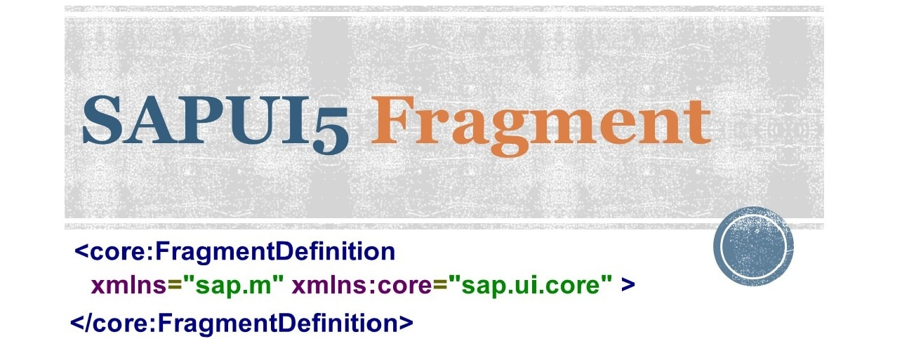 SAPUI5 Fragment example