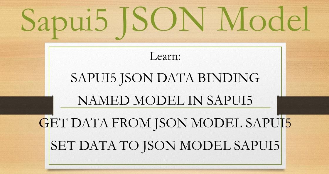 Sapui5 JSON Model