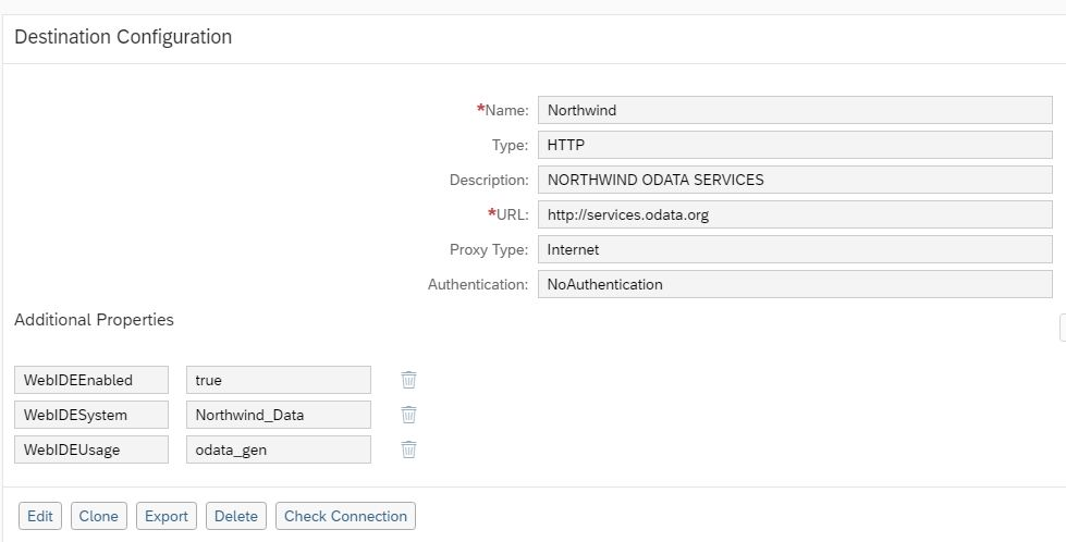 sap web ide Northwind Odata service destination configuration, sap web ide destination configuration, sap cloud platform destination service, creating destination in SAP Cloud platform, configuring destinations in SAP cloud platform account, creating a destination for the Northwind Odata Services, how to connect sap web ide to gateway system, sap cloud platform destinations