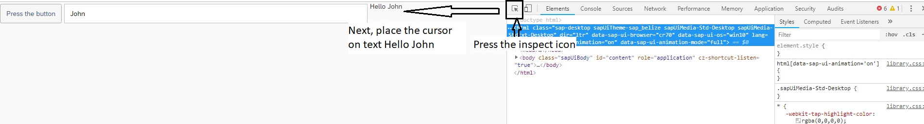Embedding custom CSS style class to SAPUI5 control - Part 4