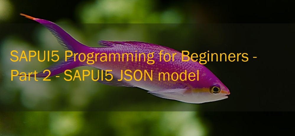 sapui5 programming for beginners sapui5 json model