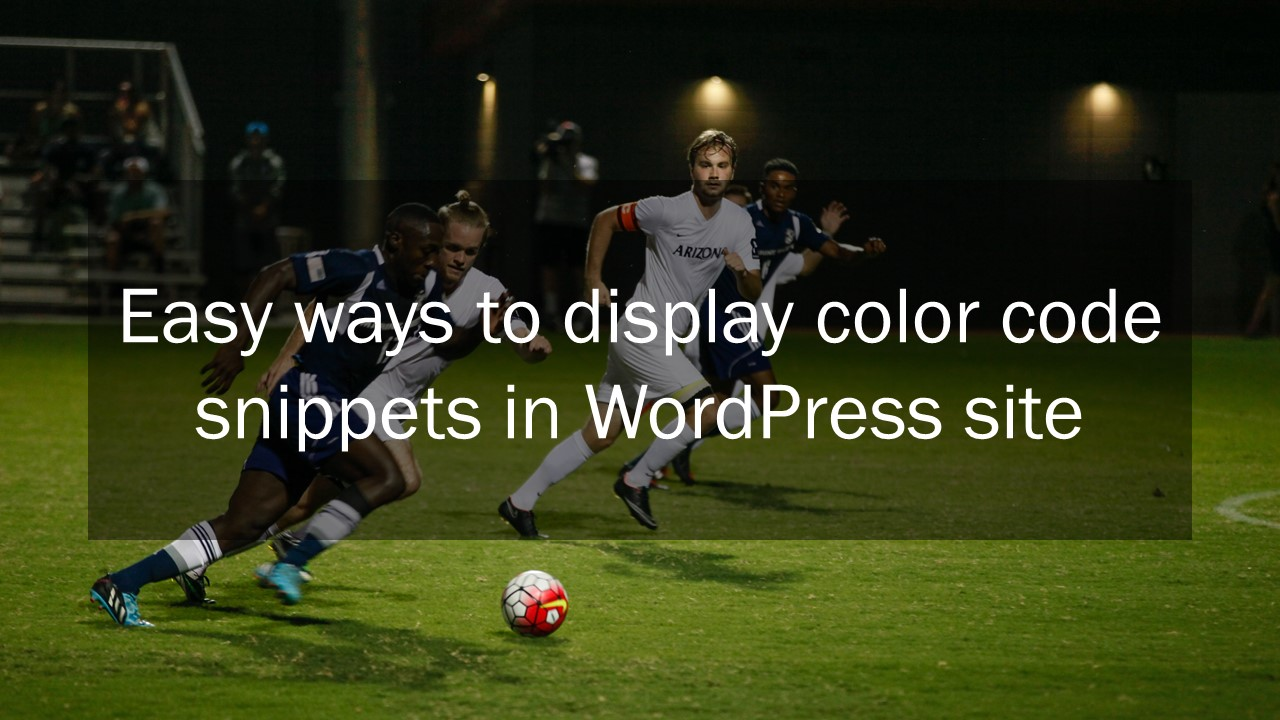 wordpress to display code snippet
