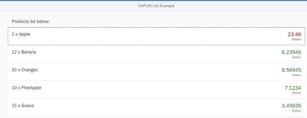 sapui5 expression binding example