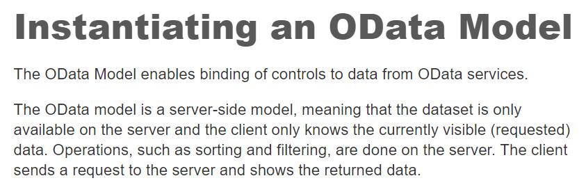 OData Model definition