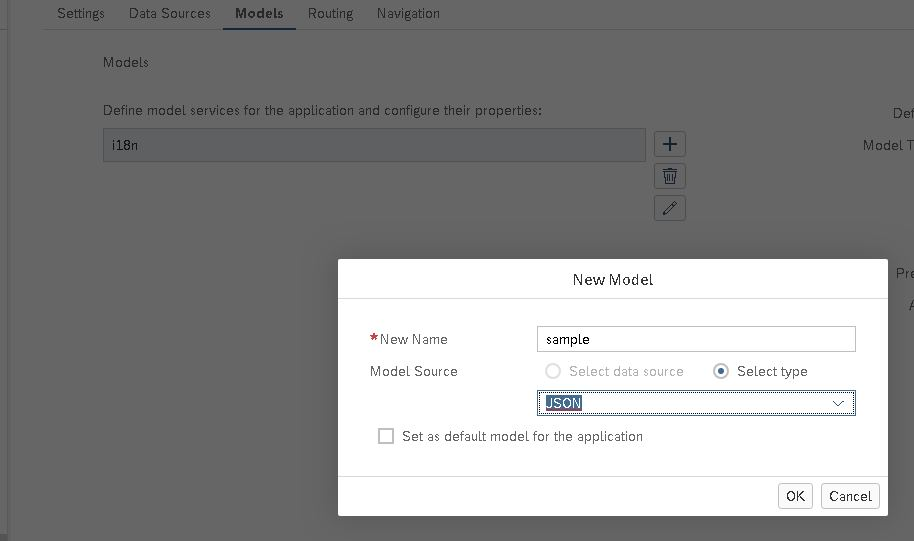 sapui5 define json model in manifest
