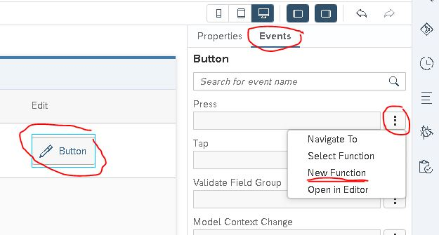 adding function to button press event in sapui5