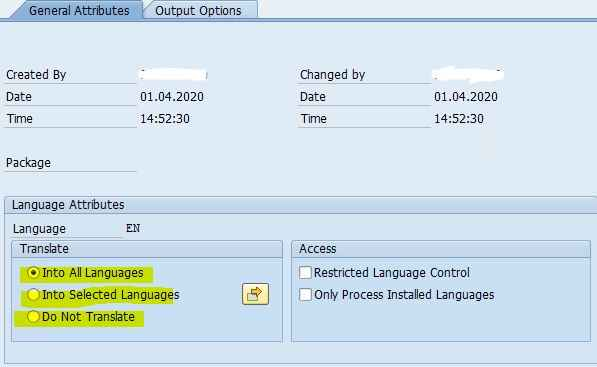 SAP SmartForm Form Attribute