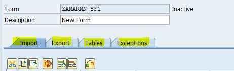 SAP SmartForm Form Interface