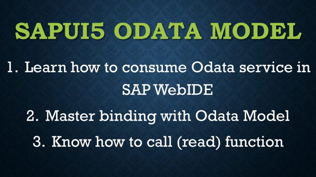 Sapui5 Odata Model example
