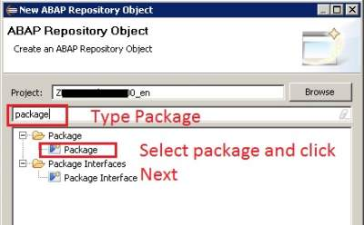 How to create package in ABAP on Eclipse