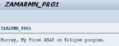 Create your first program in ABAP on Eclipse