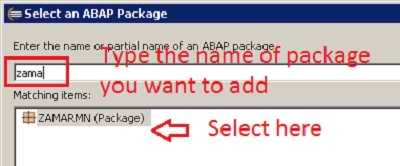 How to add a Package to favorites in ABAP in Eclipse