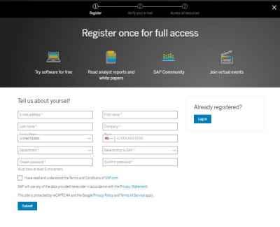 sap hana cloud trial account